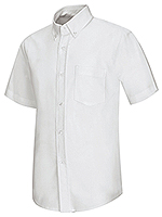 57601-WHT short sleeve oxford