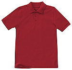 58322-RED boys short sleeve polo