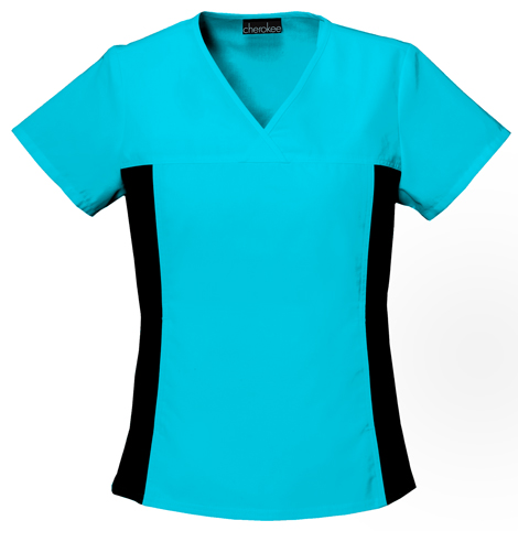 Cherokee Footwear Cherokee Uniforms Flexibles Solid V-Neck Scrub Top with Side Panels at Sears.com